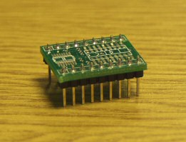 Surface Mount to DIL Adaptor - 18pin - W/ headers