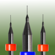 Micro Drill 0.15mm diameter x 2.5mm length with ring